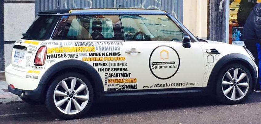 Rotulación coche AT Salamanca