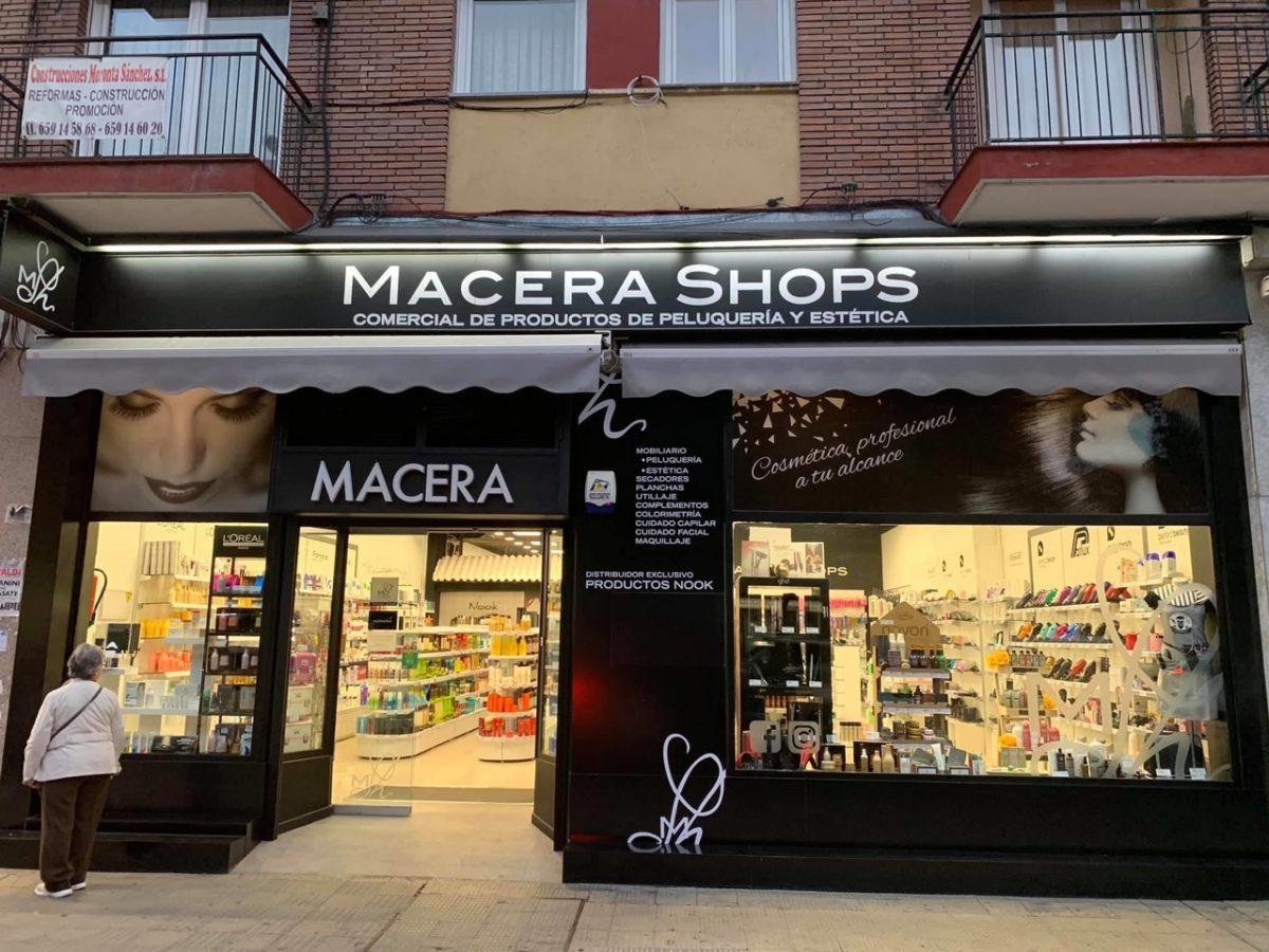 Rotulación fachada Macera Shop