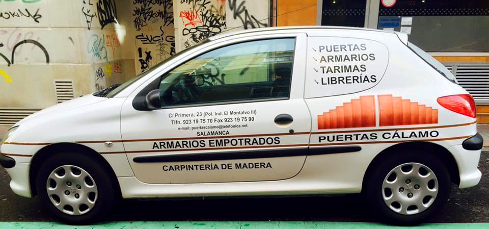 Rotulación coche Puertas Cálamo
