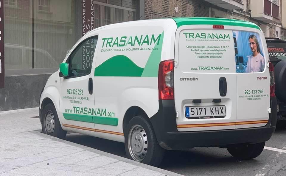 Rotulación coche Trasanam